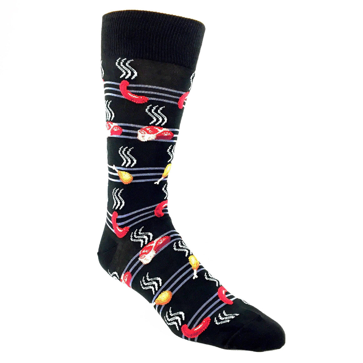 Smokin' BBQ Grill Socks by Hot Sox