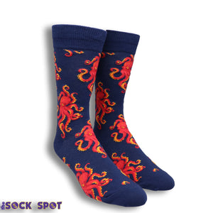 Socktopus Men's Socks in Blue by SockSmith - The Sock Spot