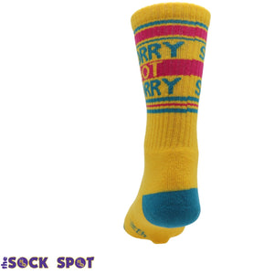 Sorry Not Sorry Athletic Socks Made in the USA by Gumball Poodle - The Sock Spot