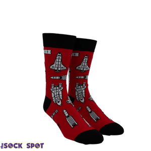 Space Craft Men's Socks by Sock it to Me - The Sock Spot