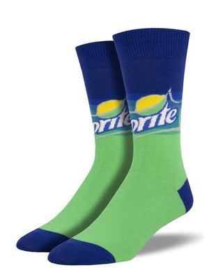 Sprite Men's Socks in Green by SockSmith - The Sock Spot