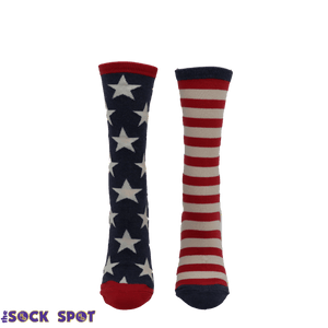 Socks - Stars And Stripes Vintage Women's Socks In Blue By SockSmith