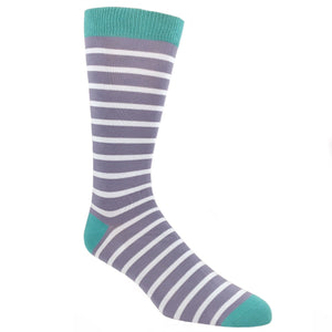 Socks - Steel And Grey Sailor Striped Bamboo Socks
