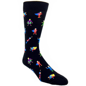 Superheroes Socks by K.Bell