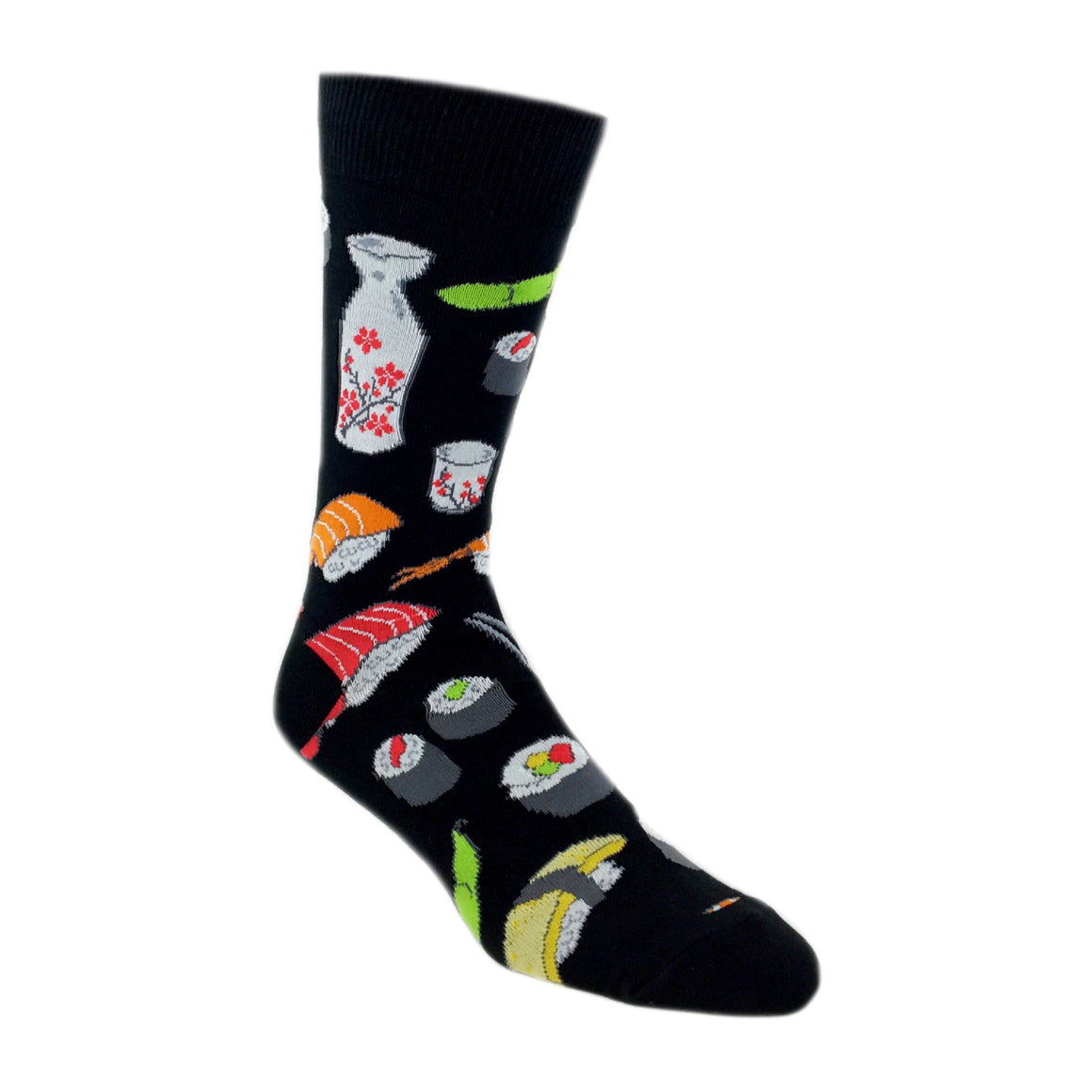 Yummy Sushi Socks In Black by SockSmith - The Sock Spot