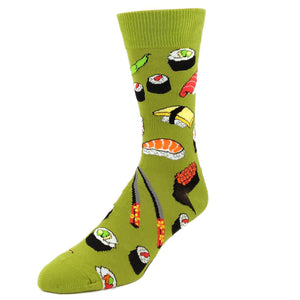 Yummy Sushi Socks in Green by SockSmith - The Sock Spot
