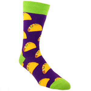 Socks - Taco Taco Taco Socks - Purple