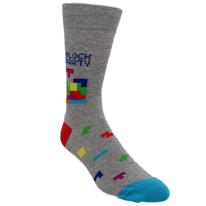 Tetris Block Party Men's Socks by Sock it to Me - The Sock Spot