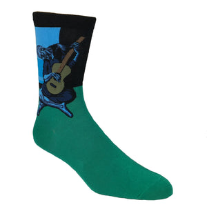 The Old Guitarist Art Socks - The Sock Spot