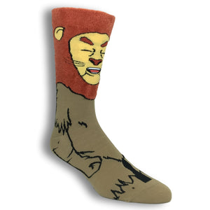 The Wizard of Oz Cowardly Lion 360 Socks - The Sock Spot