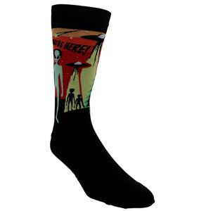 They're Here Men's Socks by Sock it to Me - The Sock Spot