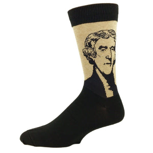 Thomas Jefferson Socks - Brown - The Sock Spot