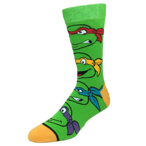 TMNT Ninja Turtles Stacked 360 Socks - The Sock Spot