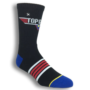 Top Gun Logo Athletic Socks by Odd Sox - The Sock Spot