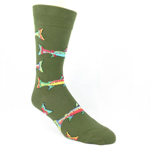 Socks - Trout Socks - Parrot Green