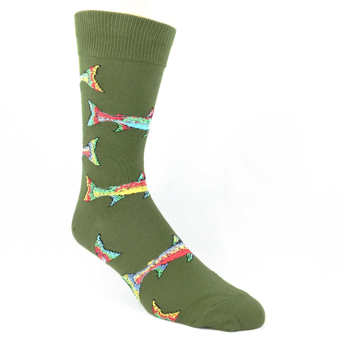 Trout Socks - Parrot Green - The Sock Spot