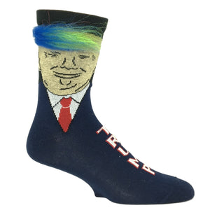 Trump Rainbow Hair Socks - Made In the USA by Gumball Poodle - The Sock Spot
