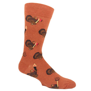 Turkey Revolution Thanksgiving Socks - Orange - The Sock Spot