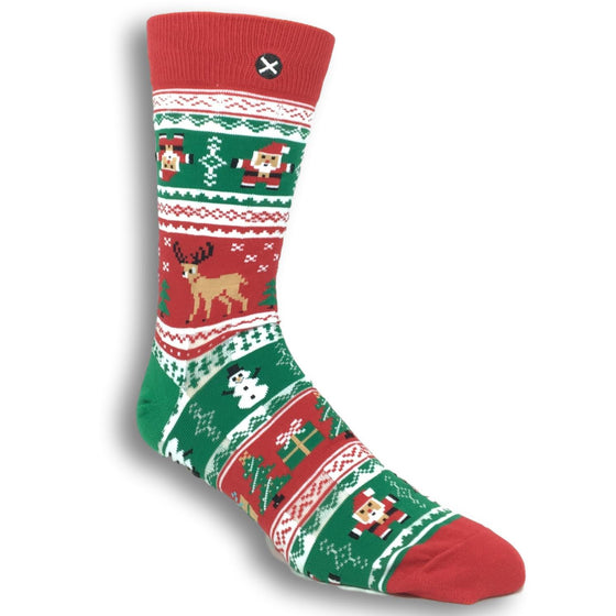 Socks - Ugly Christmas Sweater Socks By Odd Sox