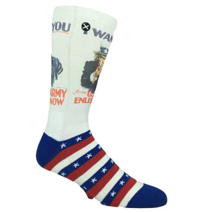 Uncle Sam Army Printed Socks by Odd Sox - The Sock Spot