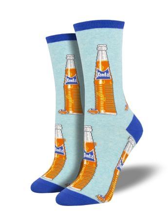 Vintage Fanta in Blue Women's Socks by SockSmith - The Sock Spot