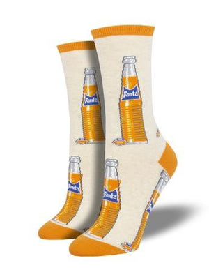 Vintage Fanta in Ivory Women's Socks by SockSmith - The Sock Spot