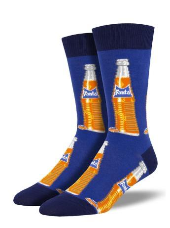 Vintage Fanta Men's Socks in Blue by SockSmith - The Sock Spot