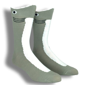 Wide Mouth Shark Socks by K.Bell - The Sock Spot