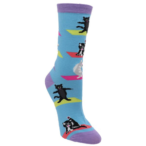 Yoga Cat Women's Socks by K.Bell - The Sock Spot