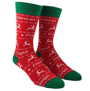 You Know Dasher and Dancer... Christmas Socks by SockSmith - The Sock Spot