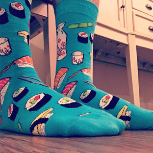 Yummy Sushi Socks in Blue by SockSmith - The Sock Spot