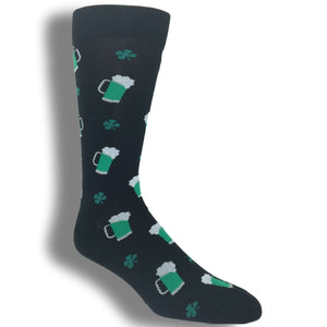 St. Patrick's Day Green Beer Socks by K.Bell - The Sock Spot