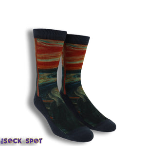 The Scream Printed Socks by Good Luck Sock - The Sock Spot