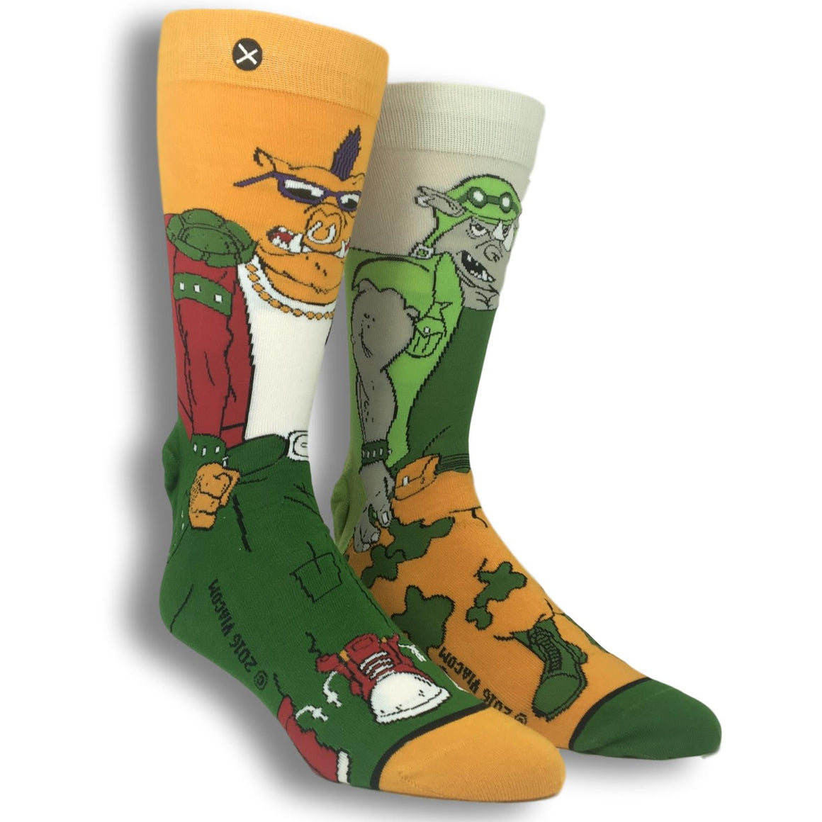 TMNT Bebop and Rocksteady 360 Socks - The Sock Spot
