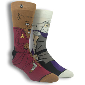 TMNT Splinter and Shredder 360 Socks - The Sock Spot