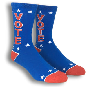 Vote Red White and Blue Socks Made In the USA by Gumball Poodle - The Sock Spot