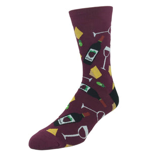 Wine and Cheese Socks by Good Luck Sock - The Sock Spot