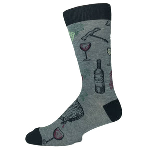 Wine Cork And Barrel Socks