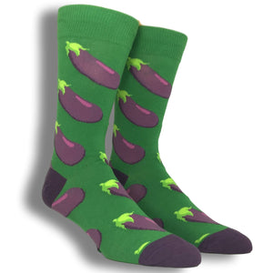 Yummy Eggplant Socks - Green