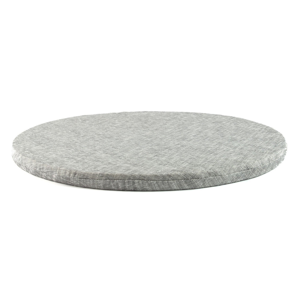round meditation mat in Grey Twill by Meditation Hardware