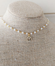 Load image into Gallery viewer, Initial Moonstone Choker