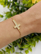 Load image into Gallery viewer, Thin Cross Adjustable Bracelet