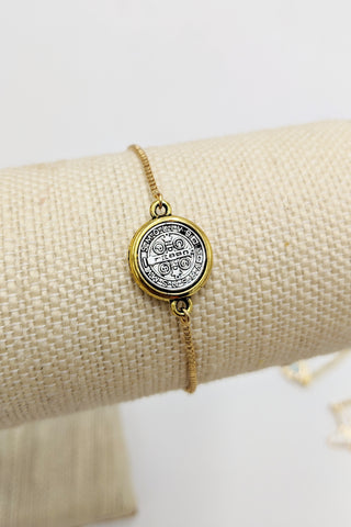 St. Benedict adjustable bracelet