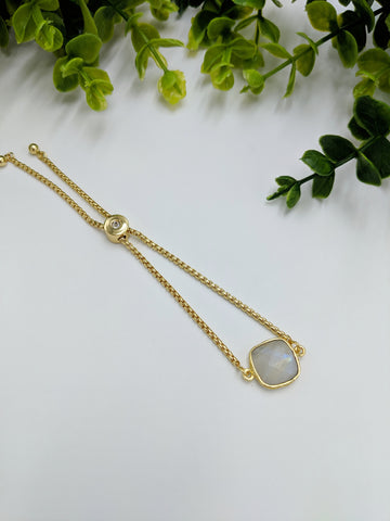 Moonstone adjustable bracelet