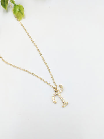 Dainty gold-filled initial necklace
