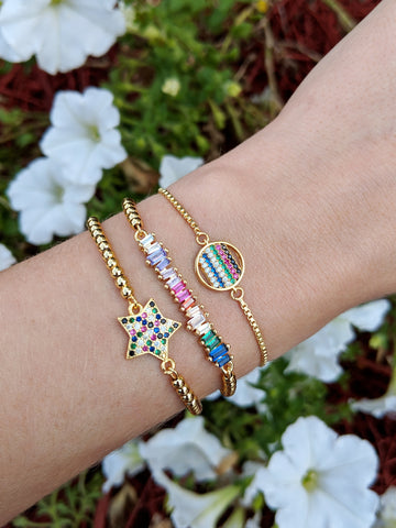 Rainbow adjustable bracelet|You Pick