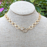 Luxe Round chain clasp necklace