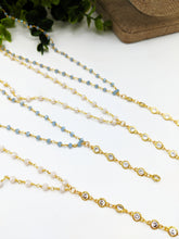 Load image into Gallery viewer, Rosary Chain CZ Drop Lariat