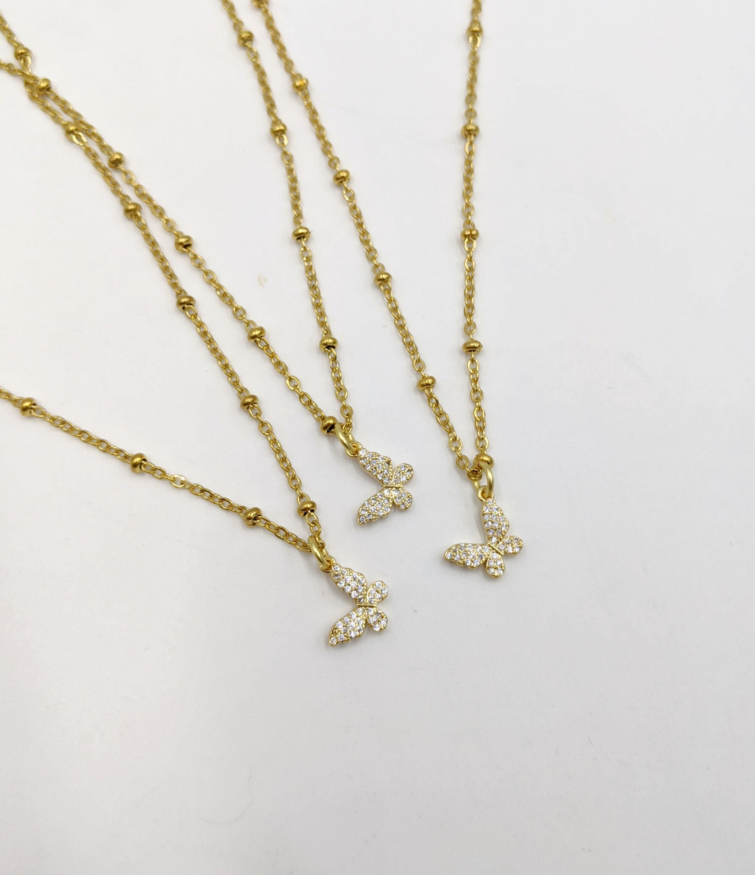 Dainty Stainless Layering Necklaces/Baby Butterfly Necklace