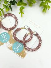 Load image into Gallery viewer, Glitter Hoops
